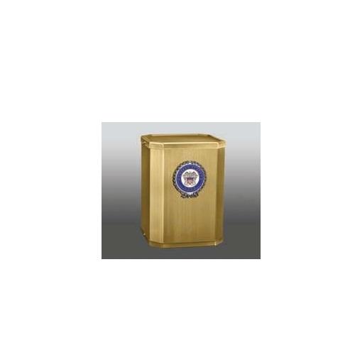 Victory Navy Brass Cube Urn