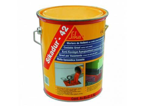 Pourable epoxy grouting system