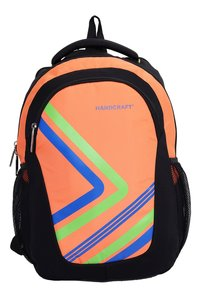 Hard Craft Unisex's Backpack 15 Inch Laptop Backpack Lightweight (Orange-Black)