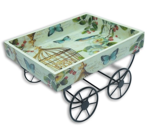 WOODEN CART TRAY