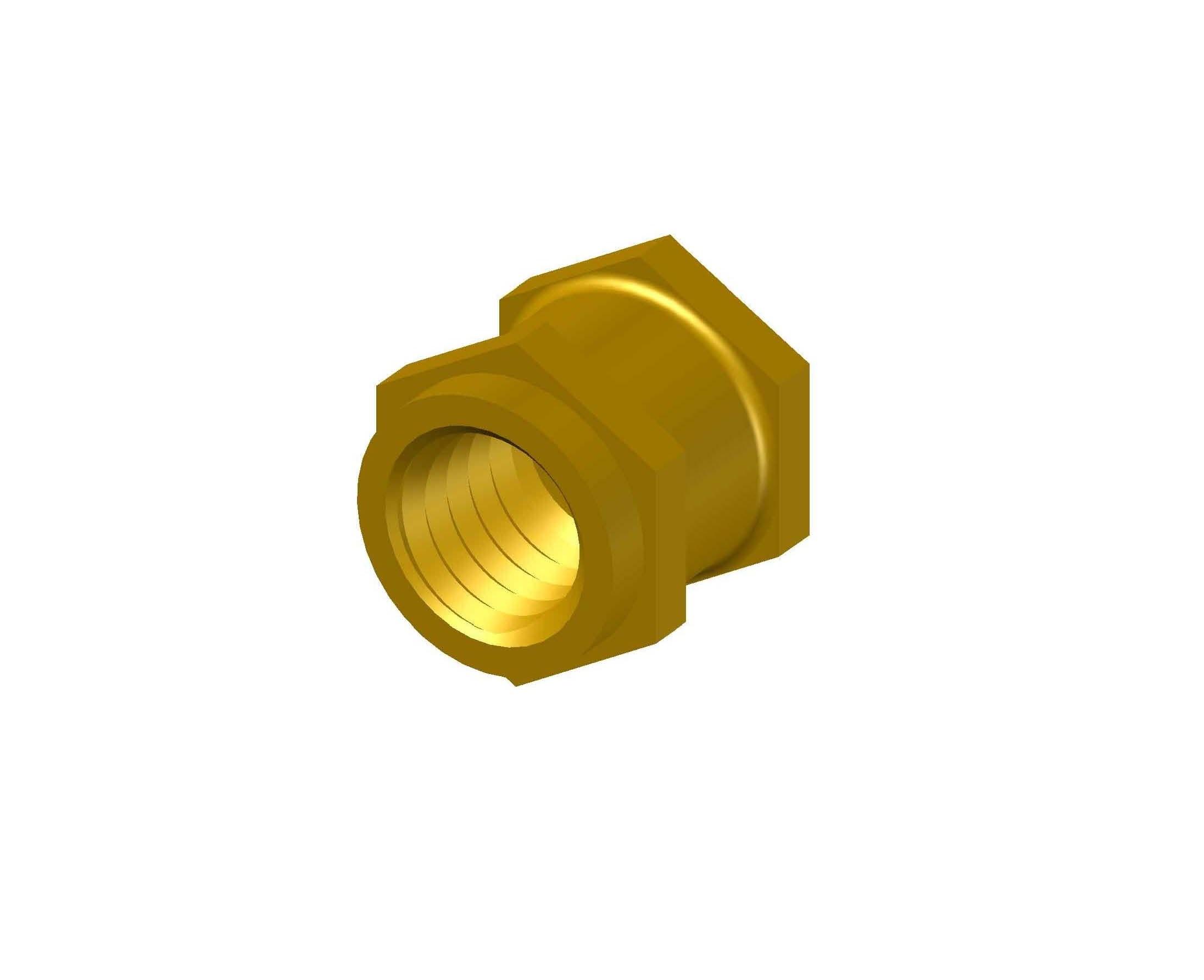 Brass Blind Hexagonal Insert