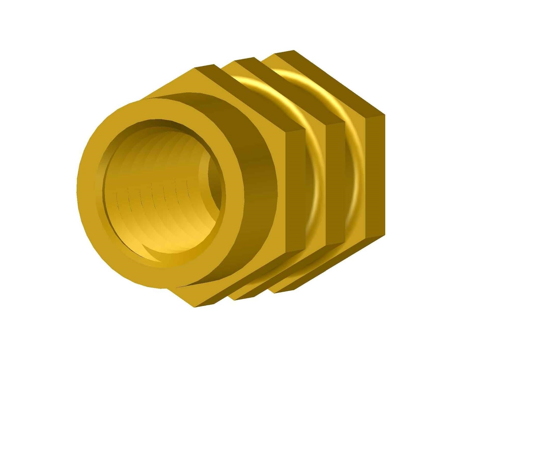 Brass Blind Hexagonal Insert