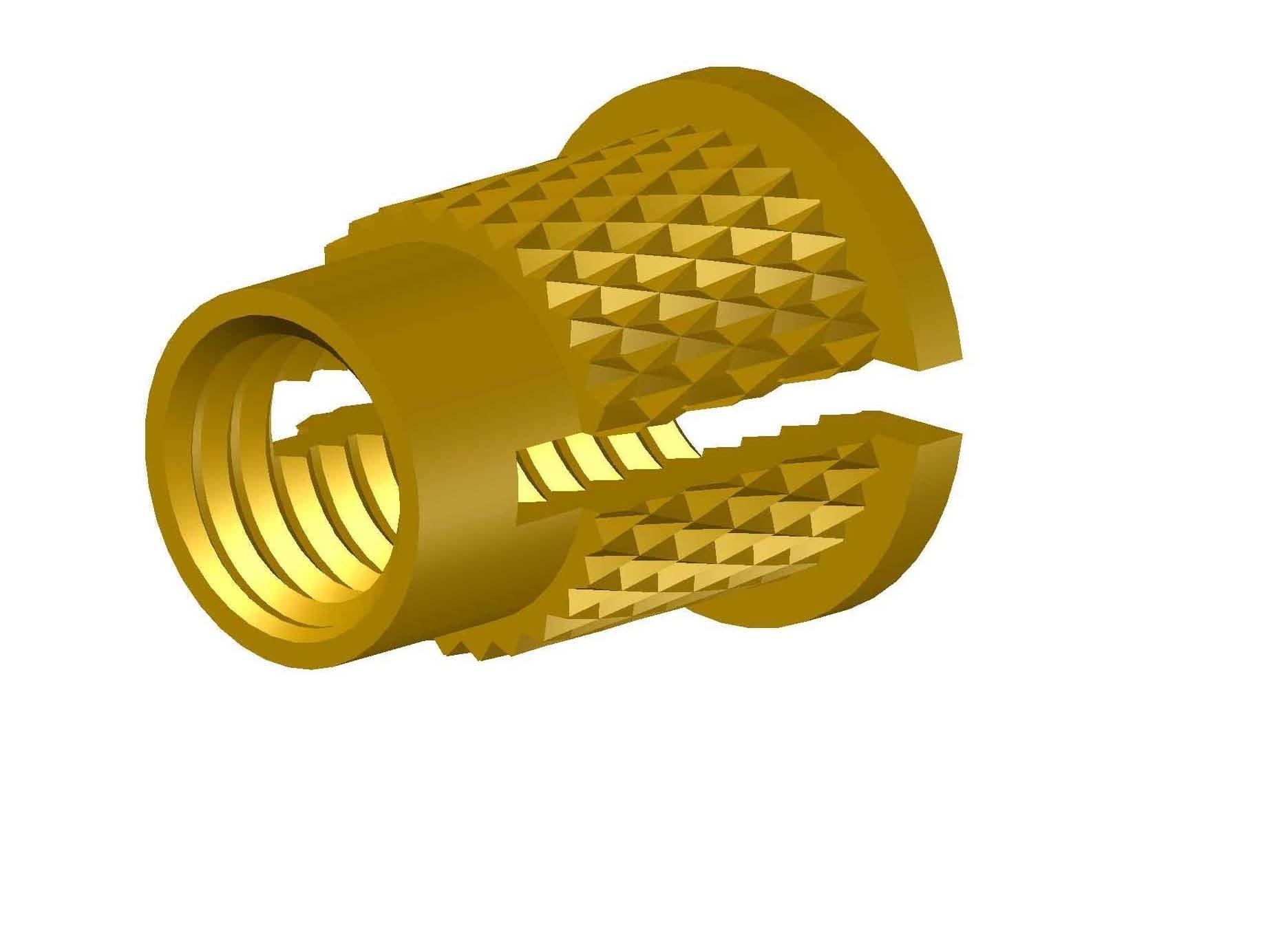 Brass Diamond Knurling Insert