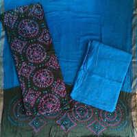 Khatali Work Suit With Printed Salwar & Dupatta Material