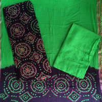 Khatali Work Suit With Printed Salwar & Dupatta Material