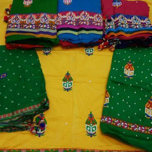 Heavy Embroidery Work With Embroidery Salwar And Dupatta Suit Material