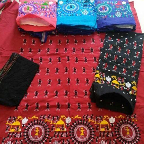 Embroidery Work With Bandhej Salwar And Dupatta Suit