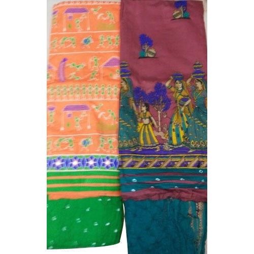 Kuchhi Work with Bandhej Salwar and Dupatta