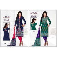 Multicolor Batik Dress Material