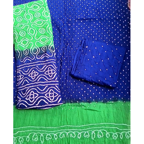 Micro Bandhej Cotton Silk Blend Salwar Suit Dup
