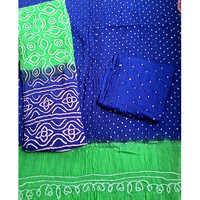Micro Bandhej Cotton Silk Blend Salwar Suit Dupatta Material