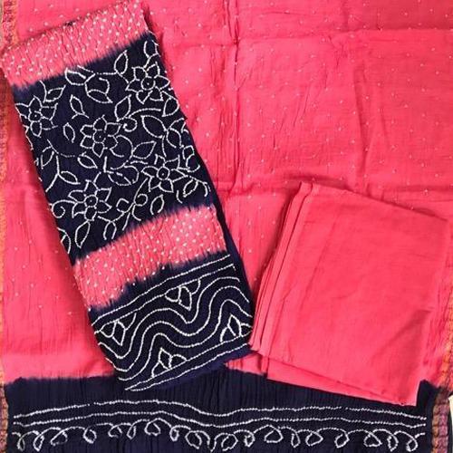 Micro Bandhej Cotton Silk Blend Salwar Suit Dup