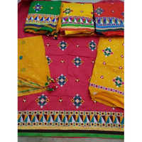 Heavy Embroidery Bandhej Salwar Material And Dupatta