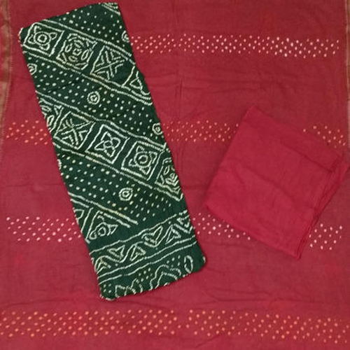 Cotton Bandhej Dress Material