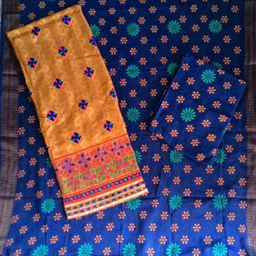 Jacquard Work With Printed Salwar & Dupatta