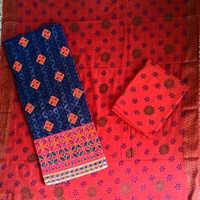 Jacquard Work Suit With Printed Salwar & Dupatta Material
