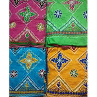 Unstitched Unn Work With Bandhej Salwar And Dupatta Material