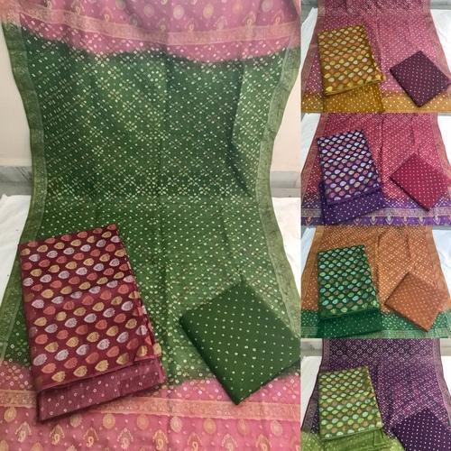 Unstitched Gadhwal Pure Silk Dress Material
