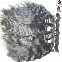 Natural Remy Bulk Indian Human Hair Extension