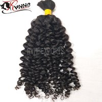 Natural Remy Bulk Curly Indian Human Hair Extension