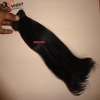 Natural Remy Straight Indian Human Hair Extension