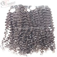 Natural Remy Kinky Curly Indian Human Hair Extension