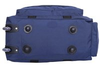Hard Craft Unisex Nylon Blue Lightweight Waterproof Luggage Travel Duffel Bag with Extra Compartments and Roller Wheels  Brand:  Hard Craft