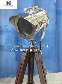 NauticalMart Designer industrial Searchlight Chrome Finish Tripod Table Lamp (B01MQGLYZV)