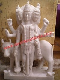 White Marble Dattatrye statue