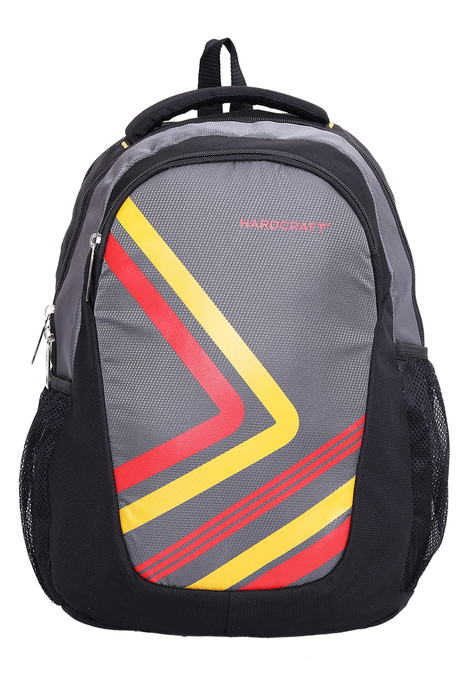 Hard Craft Unisex's Backpack 15inch Laptop Backpack Lightweight (Grey-Black)