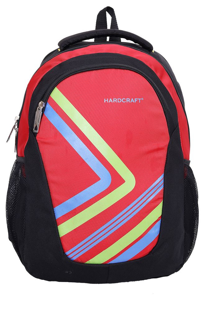 Hard Craft Unisex's Backpack 15inch Laptop Backpack Lightweight (Red-Black)