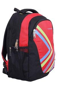Hard Craft Unisex's Backpack 15inch Laptop Backpack Lightweight (Red-Black)