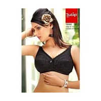 Ladies Plain Black Bra