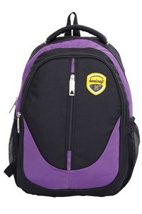 Hard Craft Unisex's Backpack 15inch Laptop Backpack M-Zip Lightweight (Purple-Black)
