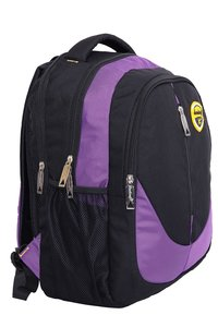 Hard Craft Unisex's Backpack 15inch Laptop Backpack M-Zip Lightweight (Purple-Black)