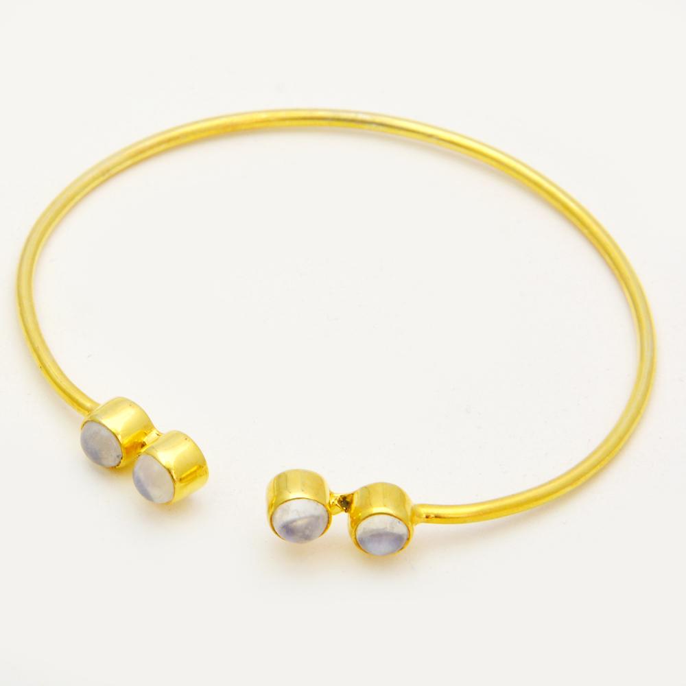 Black Onyx Sterling Silver Gemstone Adjustable Bracelet