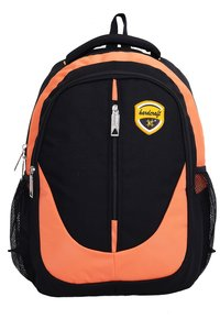 Hard Craft Unisex's Backpack 15inch Laptop Backpack M-Zip Lightweight (Orange-Black)