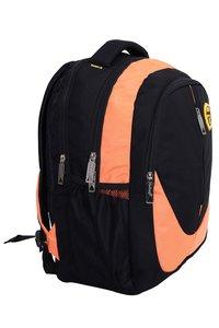 Hard Craft Unisex's Backpack 15inch Laptop Backpack M-Zip Lightweight (Orange-Black)
