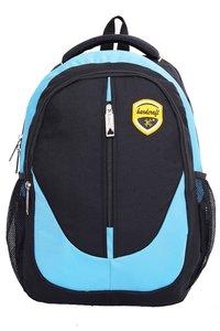Hard Craft Unisex's Backpack 15inch Laptop Backpack M-Zip Lightweight (Blue-Black)