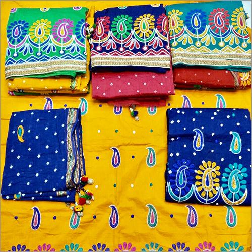 Khatali Work With Printed Salwar & Dupatta