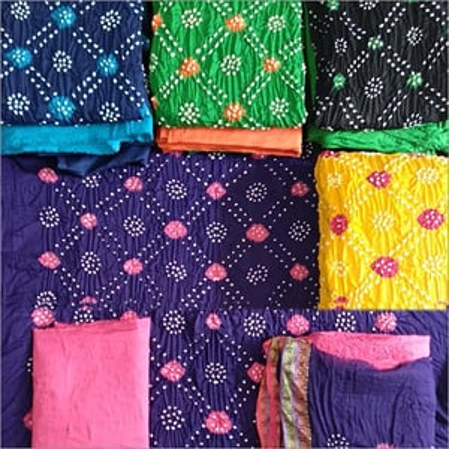 Unstitched Bandhani & Color Dana & Gulti Work Ladies Suits