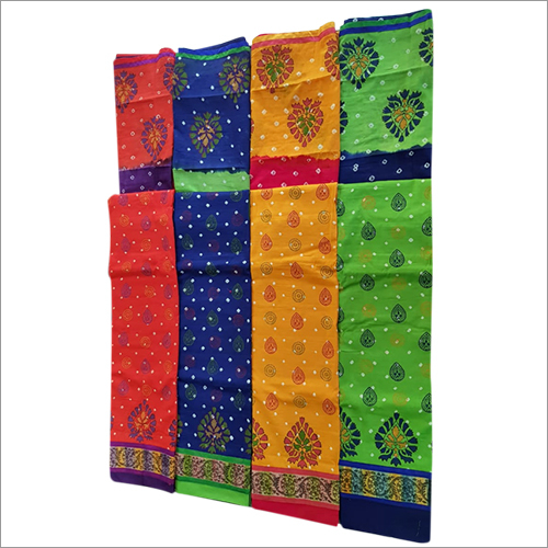 Kalamkari Hand Printed Multi Block Dupatta