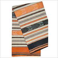 Printed Ladies Cotton Dhaniakhali Fish Motif Saree