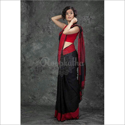 Fancy Ladies Linen Sarees