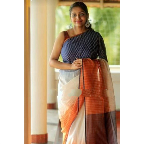 Ladies Designer Khadi Ikkat Saree