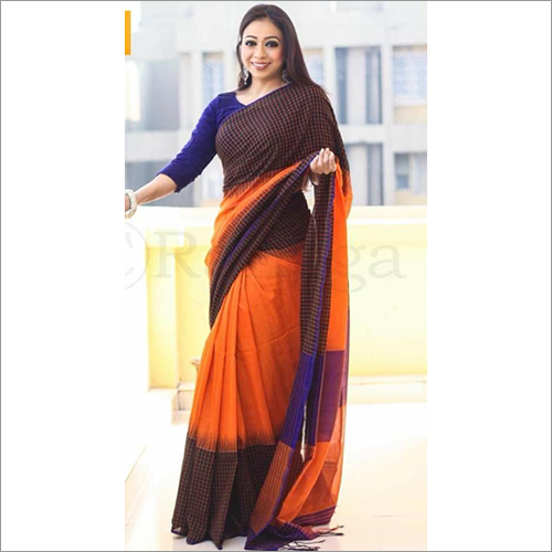 Ladies Khadi Ikkat Saree