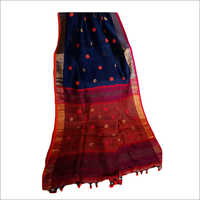 Ladies Designer Linen Ball Buti Saree
