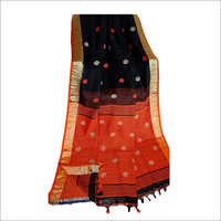 Ladies Double Shed  Linen Ball Buti Saree