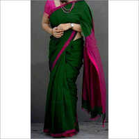 Ladies Plain Khadi Sarees