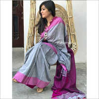Ladies Fancy Plain Border Khadi Sarees